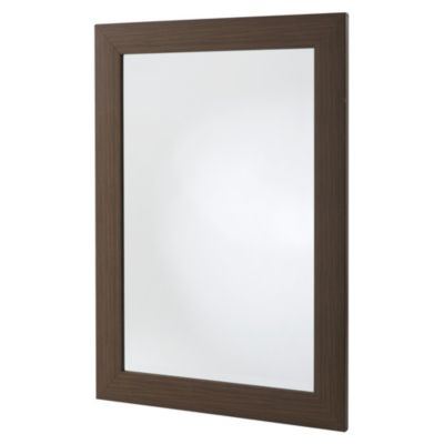 Gallery Dark Wood Effect Mantle Mirror 90x65cm - image 1