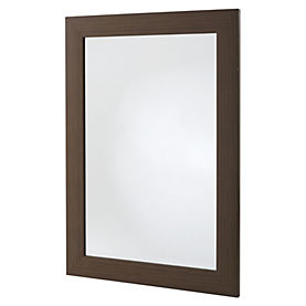 Gallery Dark Wood Effect Mantle Mirror 90x65cm