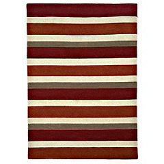 Tu Red Stripe Rug  120x170cm
