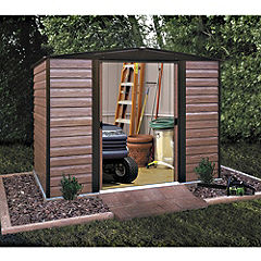 Rowlinson Woodvale Metal Apex Roof Shed 8x6