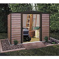 Rowlinson Woodvale Metal Apex Roof Shed 8x6ft