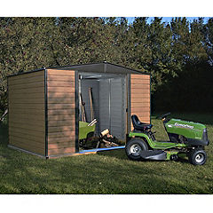 Rowlinson Woodvale Metal Apex Roof Shed 10x6
