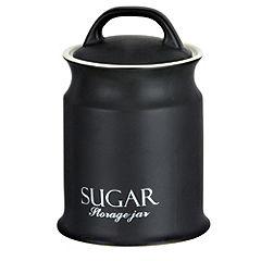 Sainsbury's Matt Black Sugar Storage Canister