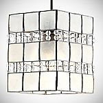 Tu Capiz Square Beaded Shade
