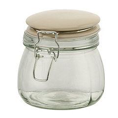 Garden Trading Cream Ceramic Lid Clip Jar 500ml