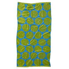Tu Blue and Green Spot Jacquard Beach Towel