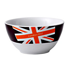 London 2012 Union Jack Brights Bowl Burgundy