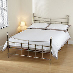 Isabella Double Brushed Nickel Bedstead