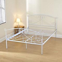 Julia Kingsize White Painted Bedstead