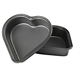 Sainsbury's Kids Mini Heart Shape Cake Tin Set of 2