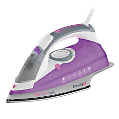 Breville VIN180 2200W Steam Iron White, Pink and Grey