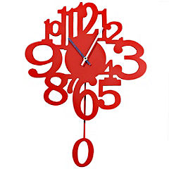 Red Gloss Victoria Wall Clock