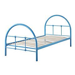 Manhattan Blue Single Metal Bedstead