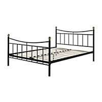 Elizabeth Black Metal Double Bedstead