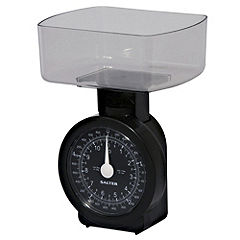Salter Black Compact Kitchen Scales