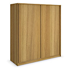 Harvard Oak Veneer 2-door Sliding Wardrobe