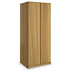 Harvard Oak Veneer 2-door Wardrobe