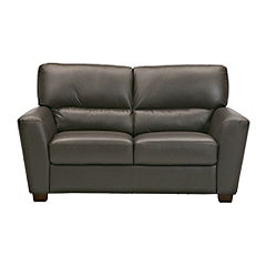 Boccelli Chocolate Leather Regular Sofa