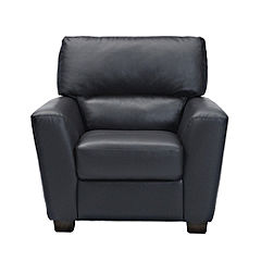 Boccelli Black Leather Chair