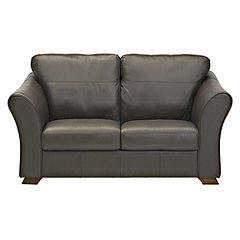 Moretto Chocolate 100% Real Leather Regular Sofa