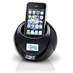 Red iPhone Clock Radio