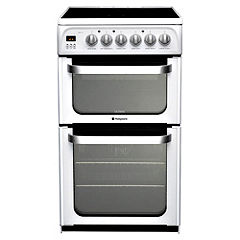 Hotpoint HUE52P 50cm White Electric Cooker