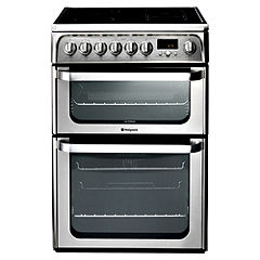 Hotpoint HUE62X 60cm Stainless Steel Electric Cooker
