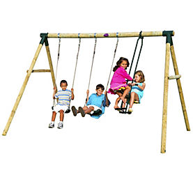 Plum Colobus Wooden Swing Set