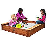 Plum Square Wooden Sand Pit