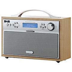 Red NE-3170 Light Wooden Effect DAB Radio