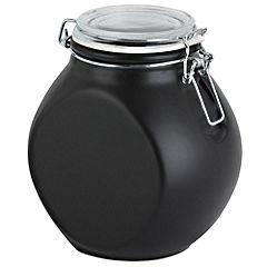 Nigella 1.5L Black Storage Jar