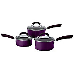 This Morning 3-piece Purple Pan Set