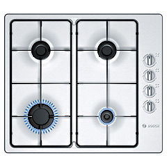 Bosch PBP615B80E Integrated Brushed Steel Gas Hob