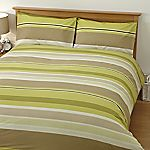 Tu Green Textured Stripe Print Bed Linen Set