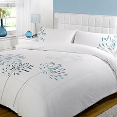 Tu Teal Agapanthus Embroidery Bed Linen Set