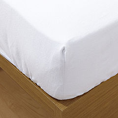 Tu White Brushed Cotton Fitted Sheet