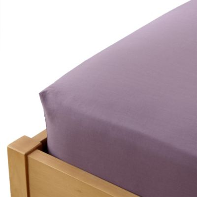 Home Collection 100% Egyptian Cotton Grape Fitted Sheet - image 1