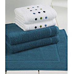 Tu Turquoise Spot Bath in a Bag - includes 2 Bath Towels, 2 Hand Towels and a Bath Mat