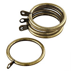 Homestyle Steelworks Antique Brass Rings 6-pack