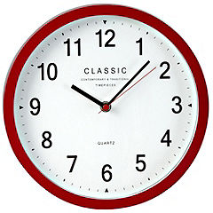 Tu Red Cased Wall Clock