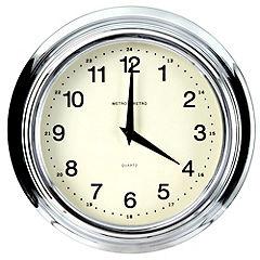 Tu Chrome Retro Wall Clock