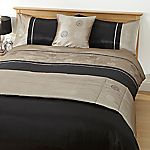 Tu Black and Mink Sequin Circles Bed in a Bag - includes Duvet Cover, Pillowcase, Runner and Cushion Cover