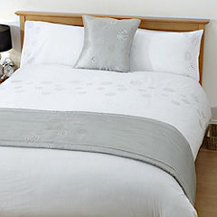 Tu White Sequin Bed in a Bag - includes Duvet Cover, Pillowcase, Runner and Cushion Cover