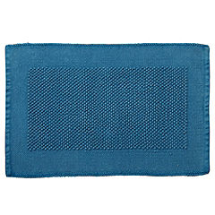 Home Collection Turquoise Chenille Bobble Bath Mat