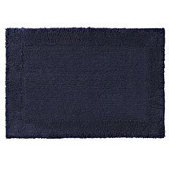 Home Collection Inky Blue Deep Pile Bath Mat
