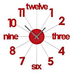 Tu Red Spoke Numbers Clock