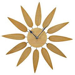 Tu Oak Effect Flower Wall Clock