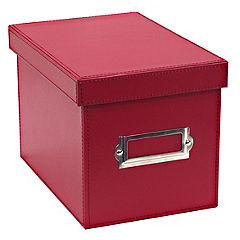 Tu Red Faux Leather CD/DVD Box