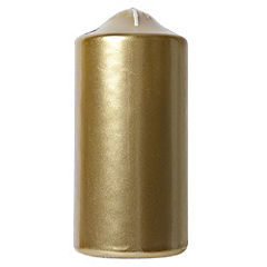 Tu Gold Metallic Large Pillar Candle