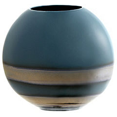 Tu Oval Teal Reactive Vase